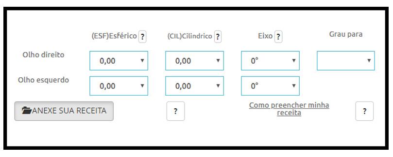 PREENCHA O GRAU DA RECEITA ONLINE